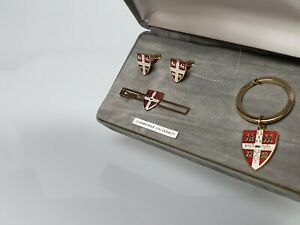 Stratton of England Cambridge University Cufflinks/Tie Clip/Keyring Set (50379)