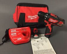 "NEW Milwaukee M12 12-Volt Lithium-Ion 3/8"" Cordless Drill/Driver Kit (2407-22)"