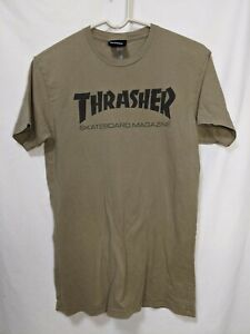 Thrasher Skateboard Magazine Beige T-shirt Excellent Condition