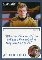 Star Trek TOS Archives & Inscriptions card #17 LT Dave Bailey Variation 13 of 19