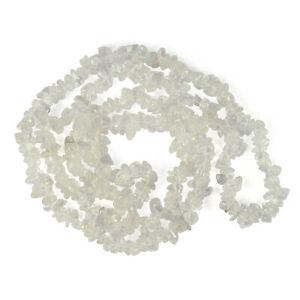 Clear Quartz Chip Beaded Crystal Necklace Stone Mala Reiki Healing Gemstones