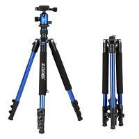 ZOMEI Camera Tripod Aluminium Tripod For Canon Nikon Sony Camera Q555 Blue
