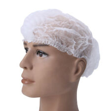100Pcs Disposable Head Cover Mob Cap Hat Hair Net Non Woven Anti Dust Proof Hats