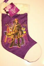 JUSTIN BIEBER - PURPLE MINI CHRISTMAS STOCKING WITH SIGNATURE (NEW)