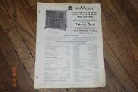 vintage 1952 rca victor television receivers manual 21t197de