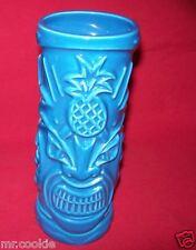 TOMMY BAHAMA Rum Hawaiian Tiki Pineapple Mug Tumbler Glass Turquoise Blue