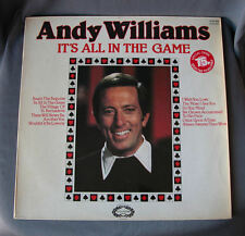 """Vinilo LP 12"""" 33 rpm ANDY WILLIAMS - IT'S ALL IN THE GAME - Long Playing Record"""