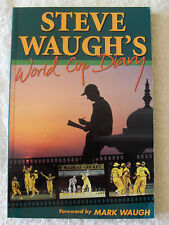 STEVE WAUGH CRICKET SIGNED CRICKET WORLD CUP DIARY BUY AUTHENTIC
