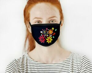 Flower Floral Face Mask Cover Protective Covering Washable Reusable
