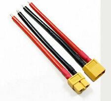 NEW 1 Pair XT60 Connector Male Female W/Housing 10CM Silicon Wire 12AWG