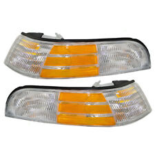 Pair Set Park Signal Marker Lights Cornering Lamps for 92-97 Ford Crown Victoria