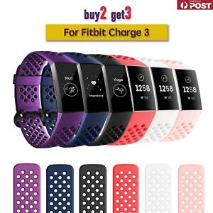 For Fitbit Charge 3/SE 4 Bands Sports Replacement Silicone Wristband Watch Strap