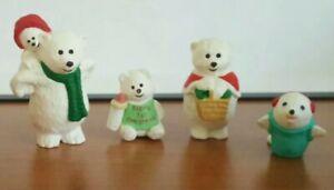 Hallmark merry miniature polar bear family seal lot