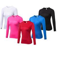 Women's Athletic Running Yoga Shirts Dri fit Lightweight Long Sleeve Wicking Top