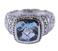 Sky blue topaz Gemstone Design Ring Size 7 Women Silver 925 Sterling silver