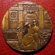 Art Deco SOCIETE GENERALE BANK 1864-1964 / bronze medal by REVOL / 68 mm / N136
