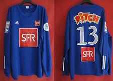 Camiseta usada Copa de Francia Adidas Postal SFR Verde No. 13 Partido Usado - XL