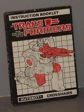 G1 TRANSFORMER TARGETMASTER CROSSHAIRS INSTRUCTION MANUAL LOT # 2