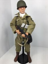 1/6 US 101ST AIRBORNE PARATROOPER THOMPSON  SMG + STAND WW2 DID DRAGON BBI 21st