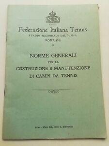 LIBRO FEDERAZIONE ITALIANA TENNIS PNF STADIO PIRELLI IMPERMEABILI OPUSCOLO