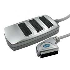 Adattatore SCART 3 vie scatola splitter adattatore diviso per 3 TV Premium gamma d'argento