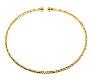 gold plated twisted beadable jewelry neckwire necklace choker base