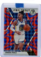 2019-20 Panini Mosaic NBA Debut Jordan Poole Blue Reactive Golden State Warriors