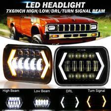 "Pair 7x6"" 5x7"" inch LED Headlight DRL Turn Signal Lamp for Toyota Pickup Truck"