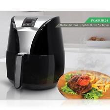 NutiChef PKAIRFR24 Low Fat Healthy Electric Air Fryer, Auto Timer 4 L, Black