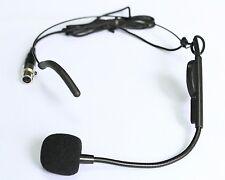 Condenser Headworn Microphone with Flexible Wired Boom mini XLR Connector