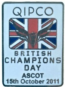 2011 ASCOT British Champions Day Horse Racing QIPCO Enamel Pin Badge New Sealed