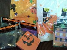 Lot of New Halloween Decorations NAPKINS TABLECLOTHS BANNERS ~ HALLMARK