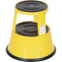 Vestil Rolling 2-Step Stool -Yellow, Model# STEP-17-Y