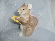 BESWICK VINTAGE GLAZED PORCELAIN MOUSE WITH CHEESE DECORATIVE TEAPOT RARE PIECE