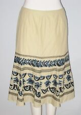 JONES NEW YORK Collection Petite Size 4P Yellow Blue Fully-Lined Boho Skirt