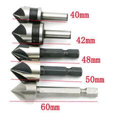 5PCS 82 Degree Chamfer Angle HSS 5 Flute Countersink Drill Bit Set Tool New