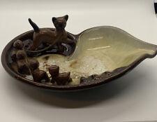 TILSO JAPAN CAT AND KITTEN POTTERY ASHTRAY