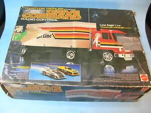 1979 Mattel No.1107 TRACTOR / TRAILER SEMI TRUCK w/ DRIVE COMMAND REMOTE CONTROL