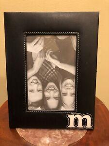 "Framed Monogram Letter ""M"". Black Fits 4x6 Picture Frame Is 6.5x8.5"""