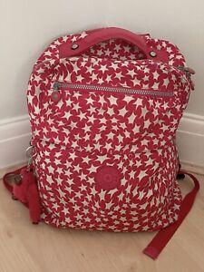 Kipling Backpack - Pink Star Swirl - Used