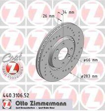 Disque de frein avant ZIMMERMANN PERCE 440.3106.52 PEUGEOT 308 SW 1.6 HDi 90 109
