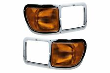 FIT FORD F650 F750 2000-2015 RIGHT LEFT HEADLIGHT BEZEL HEAD LIGHT TRIM PAIR