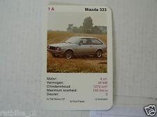 31-CARS/AUTO 1A MAZDA 323 KWARTET KAART, QUARTETT CARD,