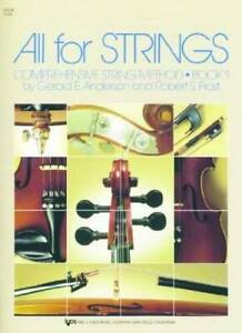 78VN - All For Strings Book 1: Violin - Paperback By Robert S. Frost - GOOD