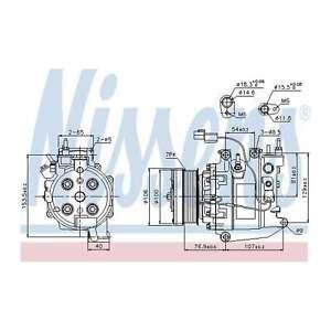 Fits Honda Civic MK7 1.4 Genuine OE Quality Nissens A/C Air Con Compressor