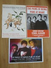 The Pains Of Being Pure At Heart - Scottish tour Glasgow concert gig posters x 3