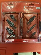 Milwaukee 6 Pc Step Drill Set 48-89-9224 New In Pk