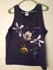 Vintage 90s Mickey Mouse Goofy Double Sided Tank Top Tee Florida Disney World