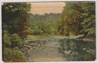 Yorkshire (North) postcard - The Wharfe, Burley in Wharfedale - RP - P/U (A206)