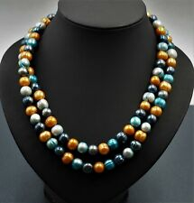 Womens Dyed Freshwater Pearls Necklace Single Strand Vintage Fashion Jewellery